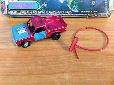 Rare Vintage 1972 Smash Up Derby Truck - Tough Tom with Ripcord