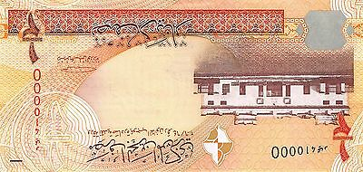 Bahrain  1/2 Dinar 2006 P 25 Fancy # 410000   Uncirculated Banknote