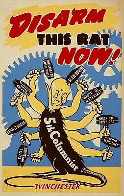 DISARM THIS RAT NOW! World War 2 Giclee Fine Art Poster Reproduction 24x38