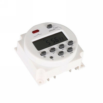 AC 12V/220V Weekly Programmable Auto Digital Light Time Switch Timer Relay White