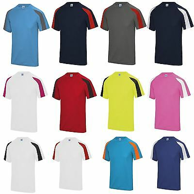 3434af85814a5 AWDis Contrast Cool T-Shirt JC003 Breathable Running Training Gym Sport  Wickable
