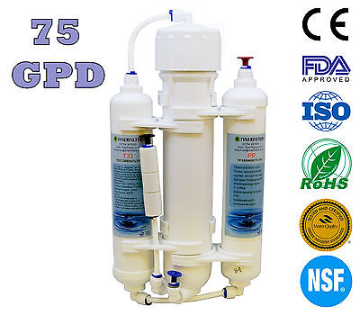 Finerfilters 3 Stage Osmose Inverse Unité Poissons Tropicaux Marine Discus 75GPD