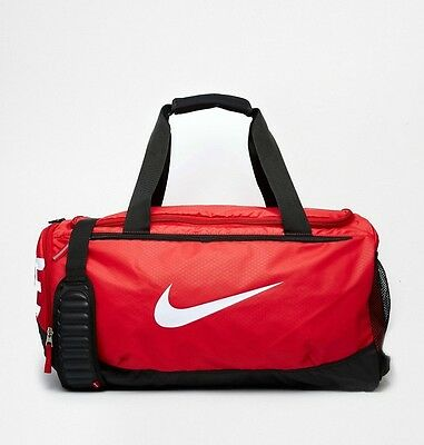 Nike Air Max Team Training Duffel Bag Medium Sports Holdall Gym Travel Bag - Red
