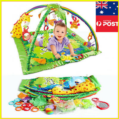 Luxury Musical Baby Mobile soft Space Toy Play Mat Activity Symphony Motion Gym
