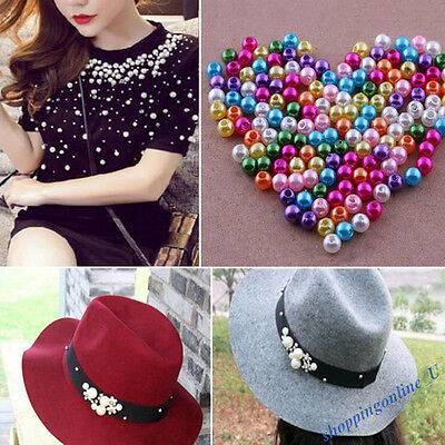 Wholesale Colorful Glass Beads Pearl DIY Craft Jewelry Making For Clothes Decor