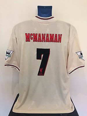 Liverpool FC McMANAMAN 96/97 Away Football Shirt (L) Soccer Jersey