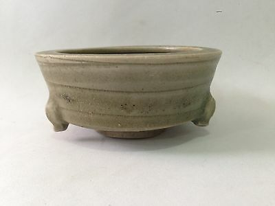 Chinese Early Ming Dynasty Celadon Tripod Censer 15th Century