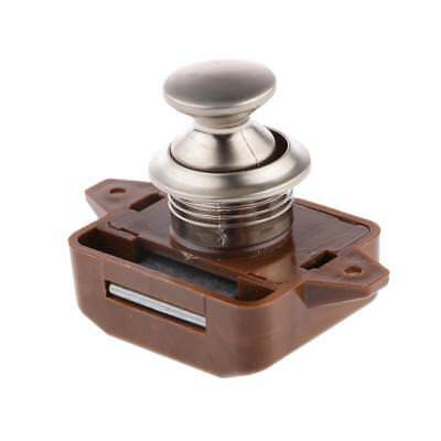 Brown 26mm Cabinet Drawer Placard Closet Lock Motorhome Portes Bureau