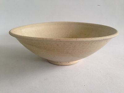 13th Century Vietnamese Ly Dynasty White Celadon Bowl Impressed Floral Motif
