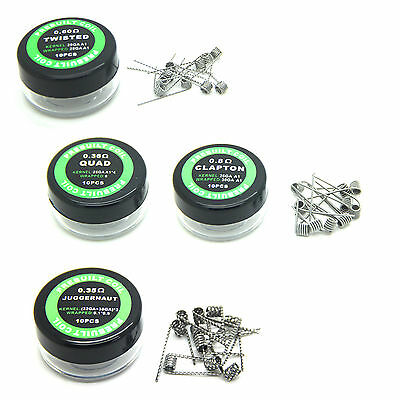 Clapton Hive Tiger Quad Twisted Flat twisted Mix twisted Fused Coil Wire 10 Type