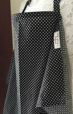 NURSING COVER like HOOTER hider* BREASTFEEDING COVER tiny dots black white