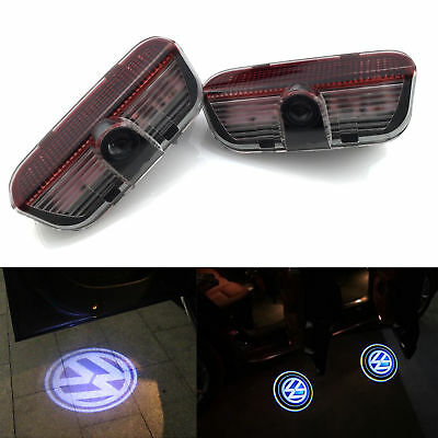 2X LED Door Bulbs VW Volkswagen Projector Shadow Light Lamp Logo Courtesy Puddle