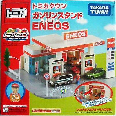 New! Japan Takara Tomy Tomica Town Scene Eneos Gas Station 795735