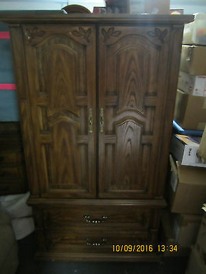 tall vintage armoire chest