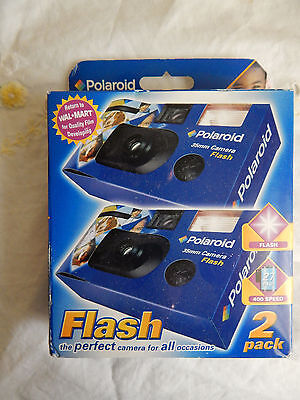 Polaroid 35Mm Camera One Time Use Flash 2 Pack 400 Speed Develop Before 06-2007