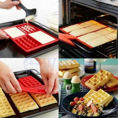 1x Silicone Waffles Mould Muffin Pans Baking Cake Mold Tray Waffle Z