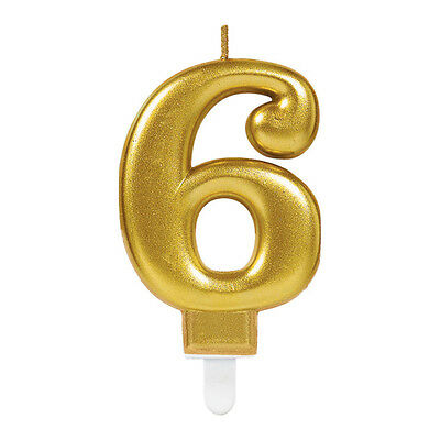 Sparkling Celebrations Gold Number 6 Candle Party Cake