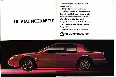 1989 Mercury Cougar XR7 -New Model-Original 2 Page Magazine Ad-Next Breed Of Cat