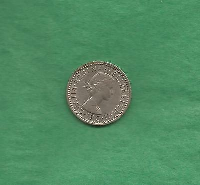 1955 Elizabeth Ii Great Britain Six Pence