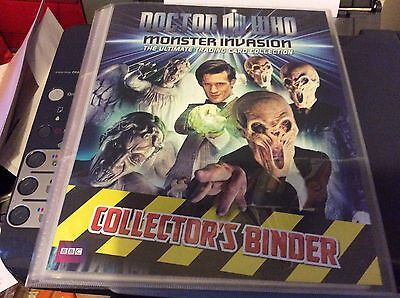 Doctor Who MONSTER INVASION Complete First Set and Test Set and 4 signed cards