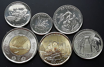 CANADA 2017 CANADIAN Commemorative issue 150 Series COIN SET.