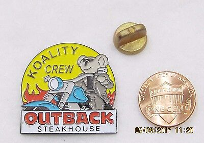 Outback Steakhouse Koality Crew Motorcycle Lapel Pin Pinback Hat Food Eat Travel