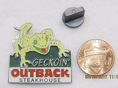 Outback Steakhouse Geckoin Gecko Lizard Lapel Pin Pinback Travel