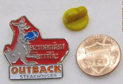 Outback Steakhouse Tazmanian Terrific Kanagroo Box Lapel Pin Pinback Travel Food