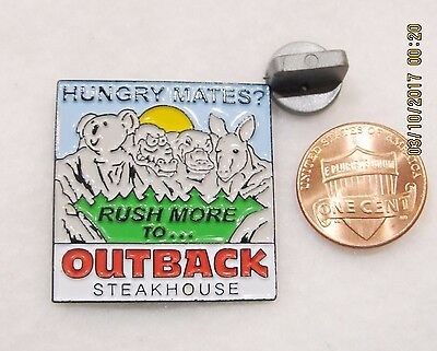 Outback Steakhouse Hungry Mates Rushmore Animals Lapel Pin Pinback Travel Food