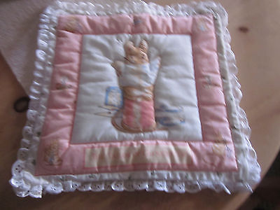 Baby Nursery Quilted Tailor of Gloucester Handmade Pillow Cover
