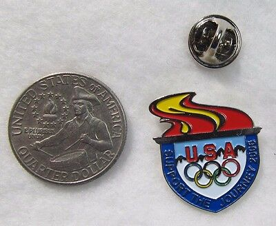 USA Support the Journey 2006 Snow Mountains Rings Lapel Pin Pinback Hat Visa