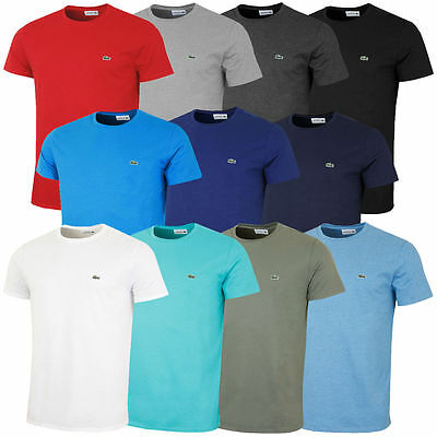 c8305f6b36010 New Lacoste Mens T Shirt Crew Neck Pima Cotton Short Sleeve Tee TH6709 New