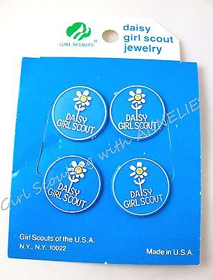 DAISY Girl Scout Hair Barrette PONY TAIL Elastic Holders RARE 1986 NEW Combine