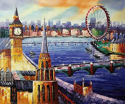 """Canvas Painting London Print Modern Wall Art Picture 20""""x24"""""""