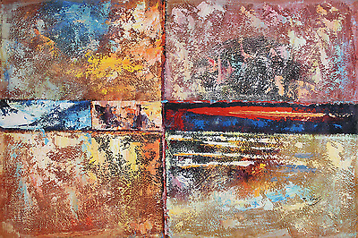 """Classic Canvas Painting Colourful Abstract Print Wall Art Modern Picture 24""""x36"""""""