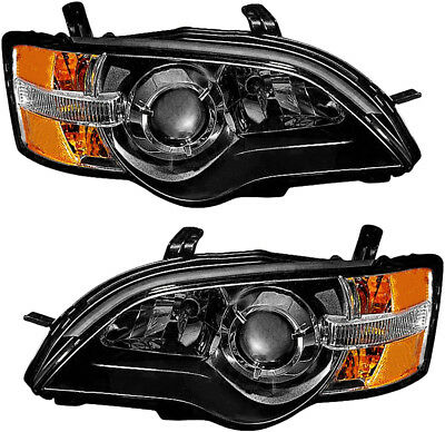 Headlights Headlight Assembly w/Bulb NEW Pair Set for 2005 Subaru Legacy Outback