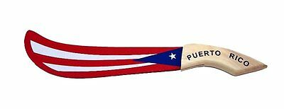 Puerto Rico Flag Wood Machete Home Office decoration Souvenir  * FREE SHIPPING *