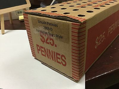 2009-D Formative  years Lincoln Cent 50'rolls sealed box