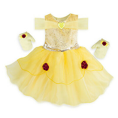 NWT Disney Store Belle Deluxe Costume Baby 6 12 18 24 Mo Beauty and the Beast