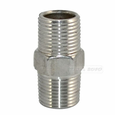 "3/8"" Male to Male Hex Nipple Steel SS 304 Threaded Pipe Fittings NPT megairon"