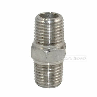 "1/4"" Male to Male Hex Nipple Steel SS 304 Threaded Pipe Fittings NPT megairon"