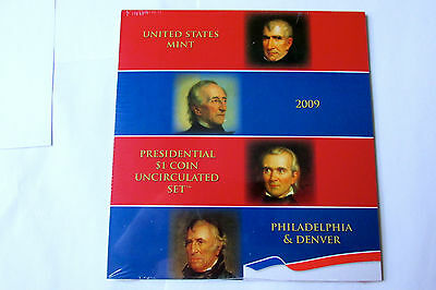 2009 P & D 8 (eight) PRESIDENTIAL $1 COINS U S MINT UNCIRCULATED SET SEALED