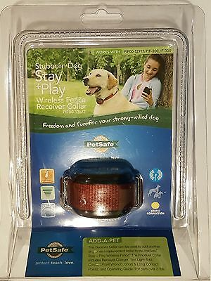 Petsafe Stubborn Dog Stay+Play Wireless Fence Receiver Collar, PIF00-13672, RED