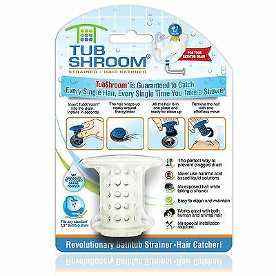 TubShroom The Revolutionary Tub Drain Protector Hair Catcher/Strainer/Snare W...