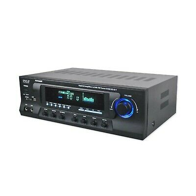 Pyle Stereo Amplifier Receiver AM-FM Tuner, USB/SD, Bluetooth Compatible, Subwoo