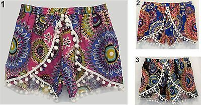 BABY TODDLERS GIRLS KIDS SHORTS - Elastic waist Childrens Sizes 0 1 2 4 6 8 10