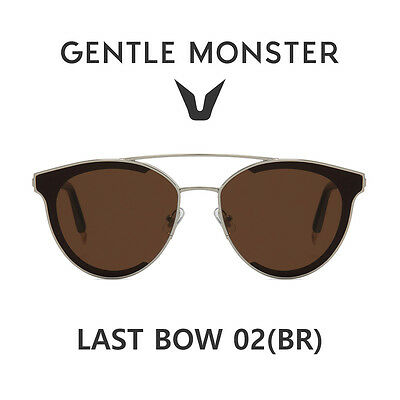 43e93e9304 2018 NEW GENTLE MONSTER Authentic Sunglasses Fashion Eyewear LAST BOW 02(BR)