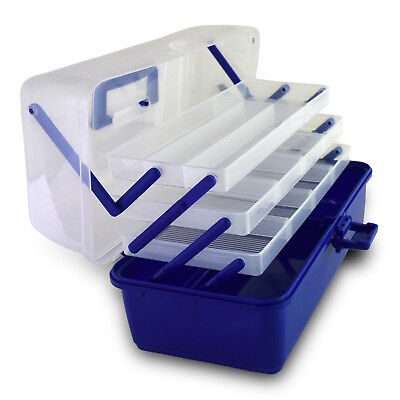 Compact 3 Layers Tackle Box Fishing Baits Hooks Lures Handheld Storage Case