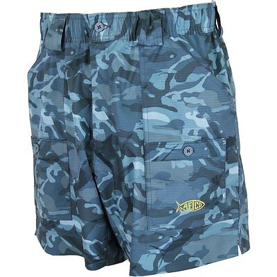AFTCO Camo ME2 Original Fishng Shorts--Pick Color/Size-Free Shipping