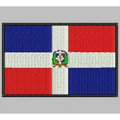 Iron Patch bestickt Patch zona ricamata embroidered patch DOMINICANA